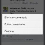 Facebook se actualiza para editar publicaciones y comentarios en Android