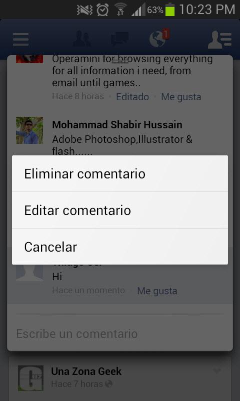 Cómo editar publicaciones y comentarios en Facebook