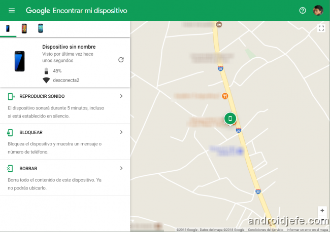 localizar mi movil android desde mi pc