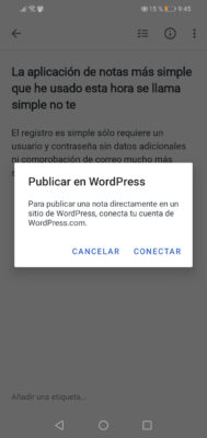 conectar simplenote con wordpress