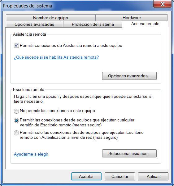 Escritorio remoto windows 10 for Conexion escritorio remoto windows 8