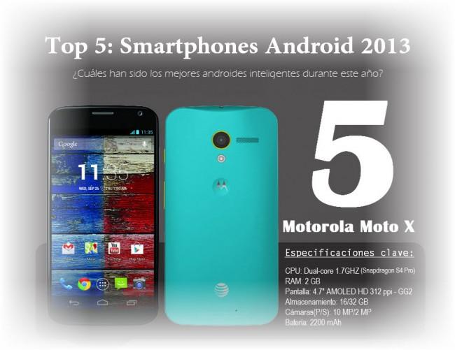 Infografia Top 5 Smartphones 2013 por Android Jefe - Intro