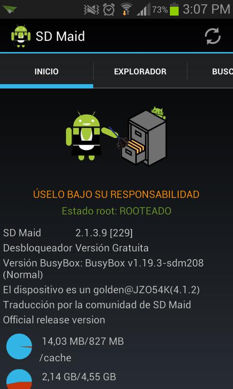 SD Maid congela y descongela aplicaciones del sistema en un toque [Root]