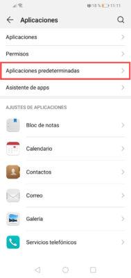 desactivar sms apps de terceros huawei 1