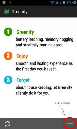 Greenify inicio