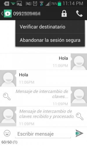 """Abandonar para volver a una conversación de SMS """"normal"""""""