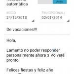 Activa la respuesta automática de correos en Gmail para Android durante estas fiestas