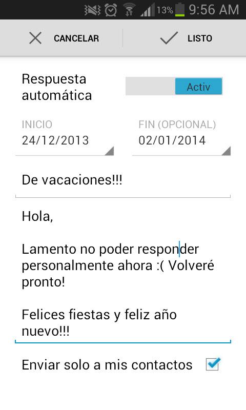 Cómo activar la respuesta automática de correos en Gmail