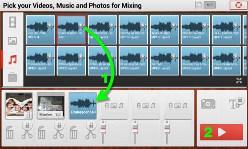 Agregando archivos multimedia al mix en TrakAx para iniciar la creación