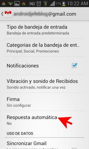 Ajustes configuracion Gmail para Android-2