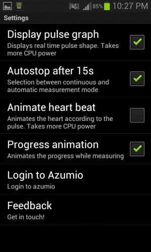 Ajustes instant heart