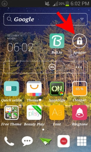 Apagar pantalla icono home - 2