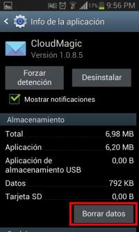 Borrar datos de una aplicación Android