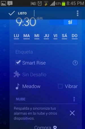Configurar alarma timely