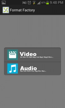 Convertir audio o video format factory