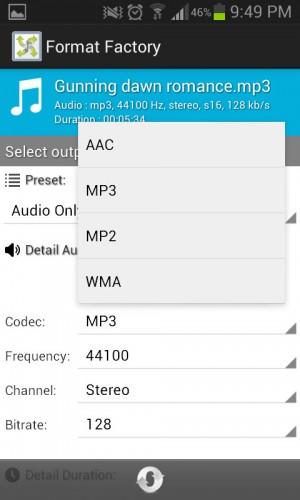 Transformando una canción MP3 en otro formato