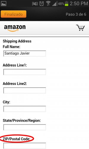 Datos de la cuenta Amazon App Store