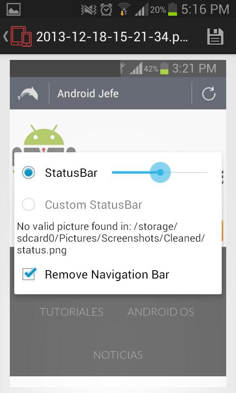 Edita en lote tus capturas de pantalla: quita la barra de estado y navegación
