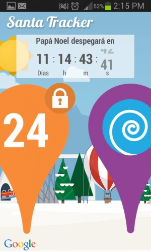 Google Santa Tracker inicio
