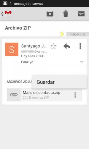 Guardar archivo ZIP Gmail 4.7