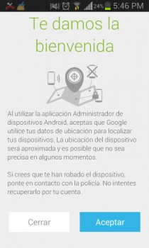 Inicio Android Device Manager