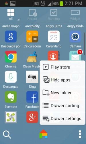 Cajón de aplicaciones de Dodol Launcher