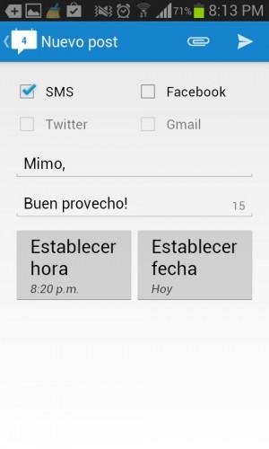 Programar un SMS Schemes