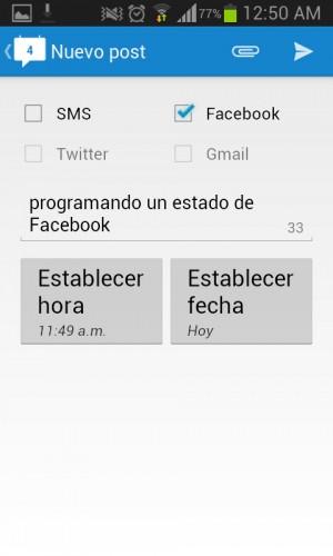 Programar un estado de Facebook Schemes