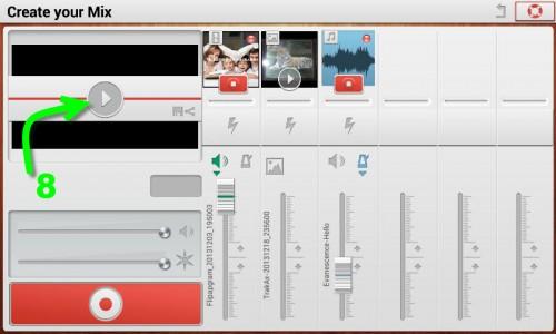 Previsualizar el vídeo (8) para proceder al guardado