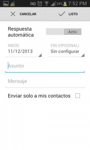 Respuesta automática en Gmail 4.7