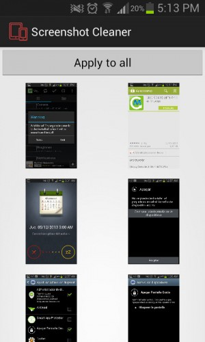 Screenshot cleaner capturas de pantalla