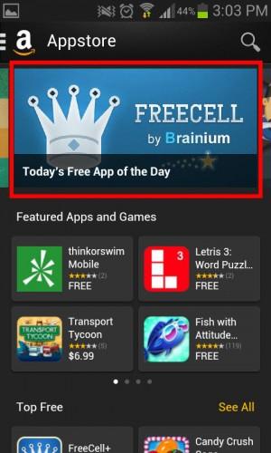 Amazon App Store aplicación gratis del día