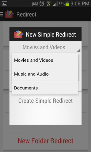 Simple Redirect para videos, música y documentos