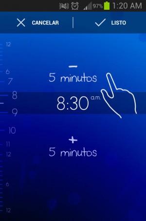 Timely configurar alarma