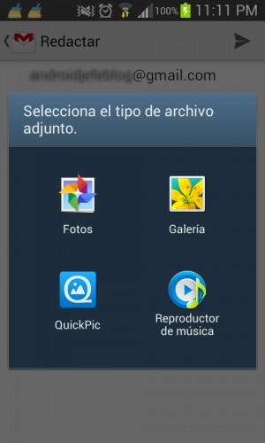 Tipos de archivo adjuntables Gmail