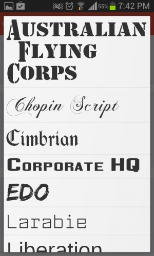 Tipos de letra titulo de vídeo flipagram