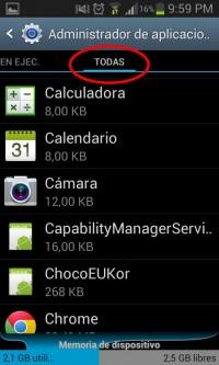 Todas las aplicaciones instaladas en Android