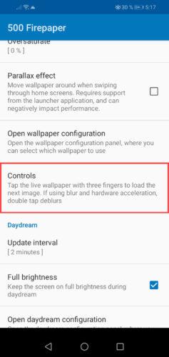 cambiar wallpaper automaticamente tocando la pantalla