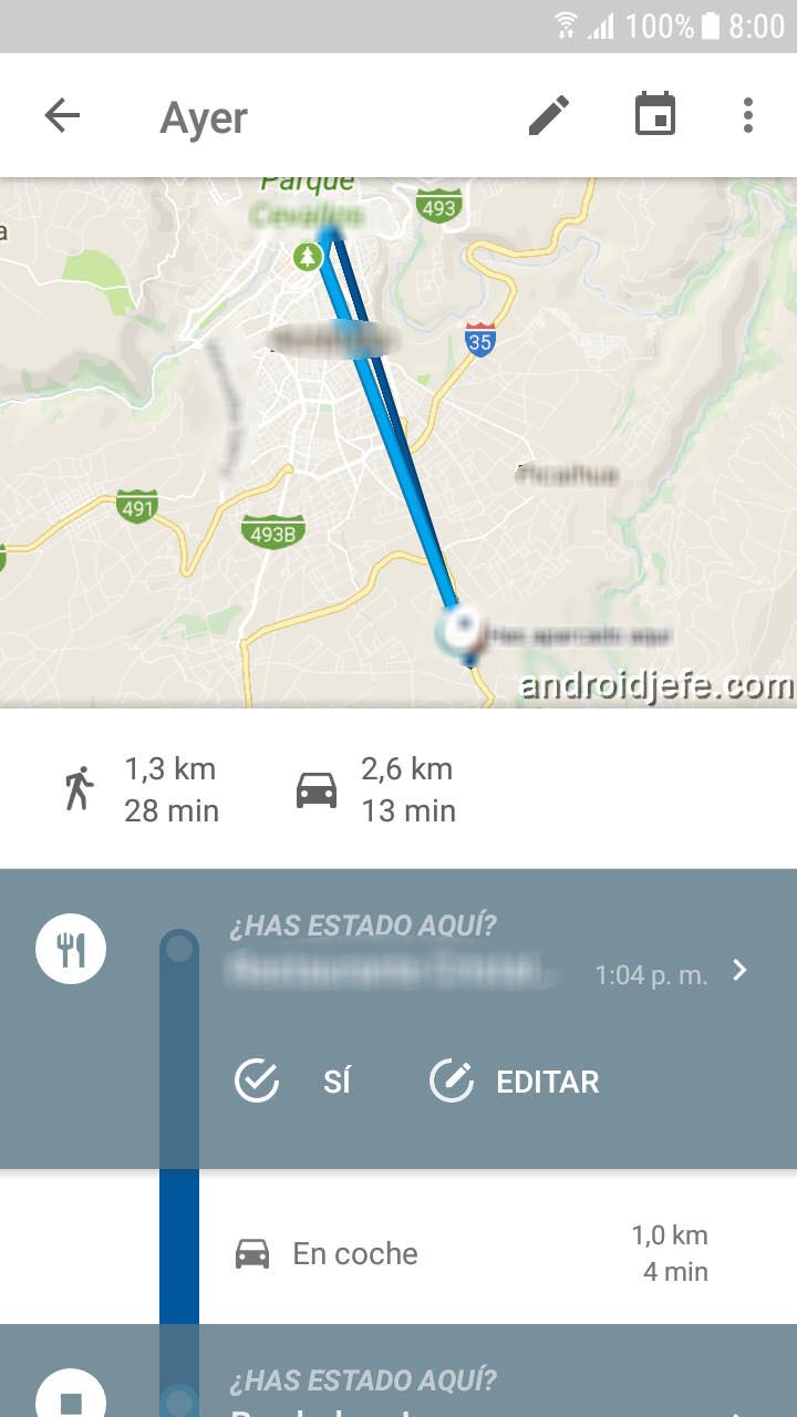 historial de ubicaciones del celular