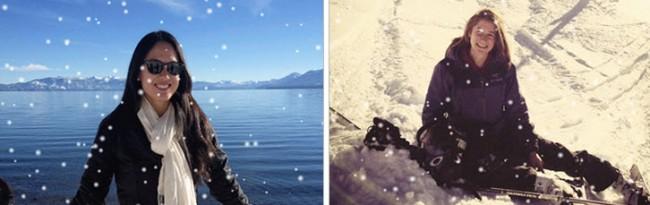 nieve en fotos