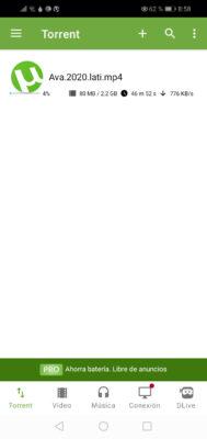 utorrent torrent detalles descarga