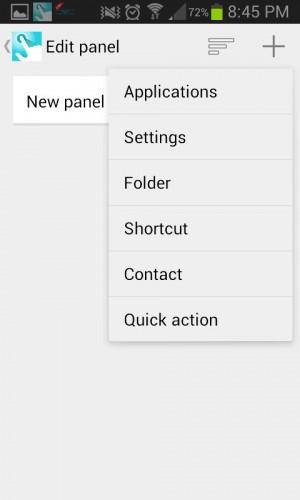 Crear panel Quickr Action Laucher