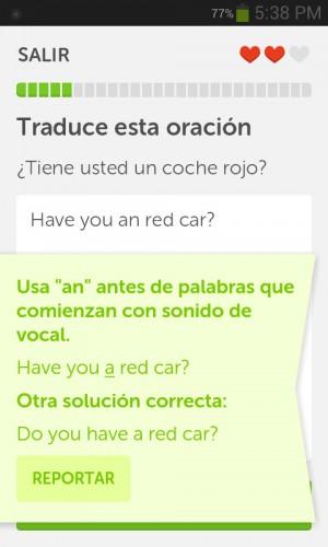 Duolingo correcto