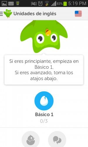 Duolingo unidades de inglés