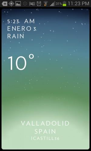 Solar weather frio lluvia