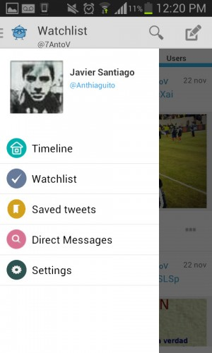 Tweetr plus perfil