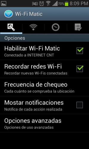 Ajustes Wifi-matic