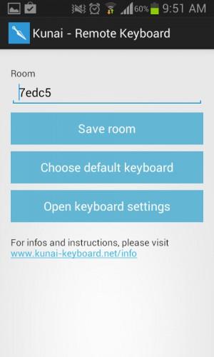 Kunai keyboard ajustes
