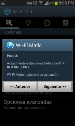 Wifi matic registrar ubicacion