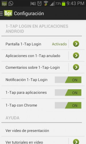activar passwordbox android
